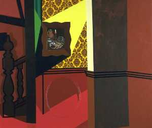 Patrick Caulfield - interno con Un  foto