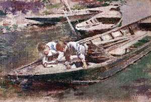 Theodore Robinson - due in un barca
