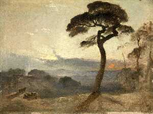 James Francis Danby - Hampstead Brughiera , Tramonto