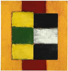 Sean Scully - Verde giallo  figura