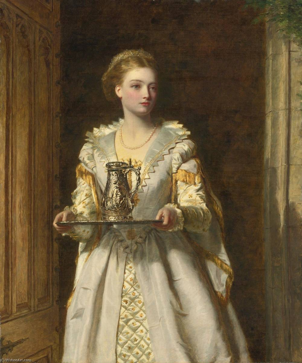 Gabrielle d'EstrÉes, olio su tela di William Powell Frith (1819-1909, United Kingdom)