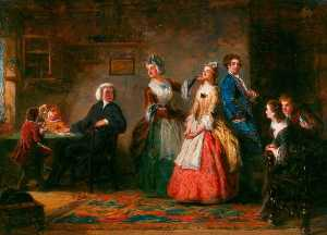 William Powell Frith - Misurazione Altezze ( da oliver Goldsmith's 'The Curato di Wakefield' )