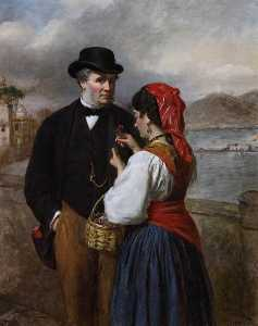 William Powell Frith - a Napoli Ritratto  di  dopodomani  Artista