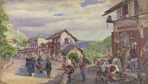 Marianne North - -The Bazar Musoori , 8th Possono 1878-