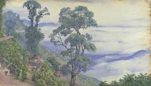 Marianne North - -Clouds da darjeeling . Septr . 1878 . India-