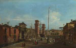 Francesco Lazzaro Guardi - Venezia dopodomani  Arsenale