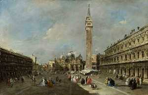 Francesco Lazzaro Guardi - piazza san marco , Venezia