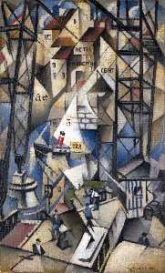 Christopher Richard Wynne Nevinson - Le vieux porto