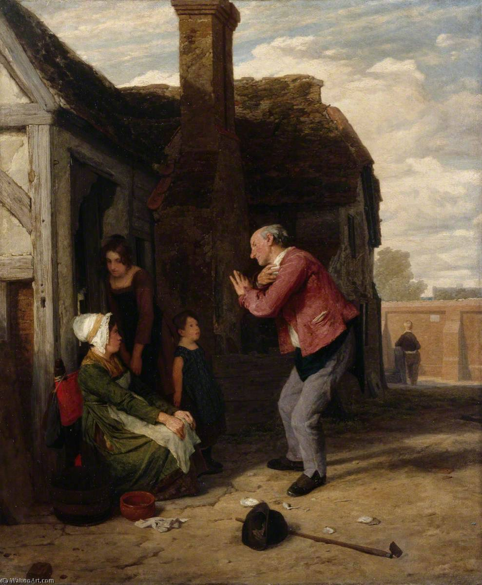 IL PAESINO buffone , 1816 di William Mulready The Younger (1786-1863, Ireland) | WahooArt.com