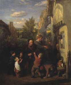 William Mulready The Younger - fair time ( 'Returning dal Birra House' )