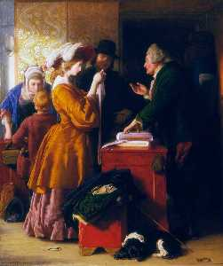 William Mulready The Younger - Scegliere dopodomani  matrimonio  abito
