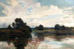 Alfred East - Warnham Lago , Sussex