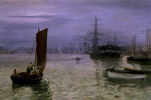 Charles Napier Hemy - lultimo in barca  come