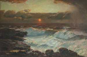 Albert Julius Olsson - tramonto a Fine Land