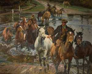 Alfred James Munnings - La Ford