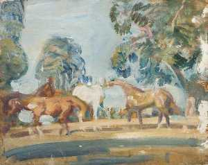 Alfred James Munnings - Studio di 'Rose' , 'Wild Bird' , 'Peggy' e il 'Stockings'