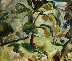 William George Gillies - alberi in foglia