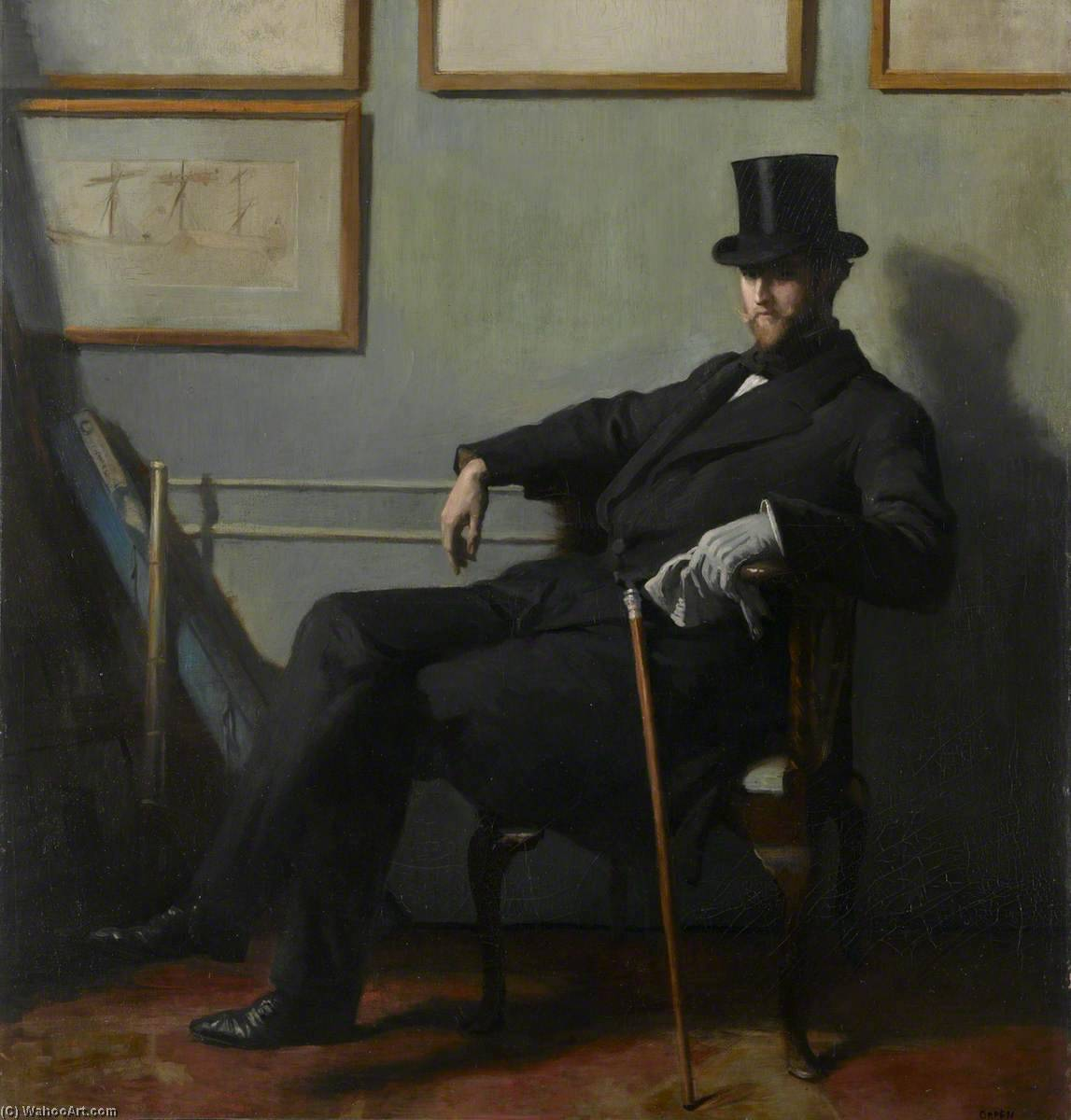 herbert barnard Giovanni Everett ( 1877–1949 ), olio su tela di William Newenham Montague Orpen (1878-1931, Ireland)
