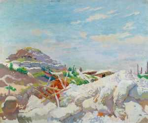 William Newenham Montague Orpen - Il Gunners' Rifugio , Thiepval