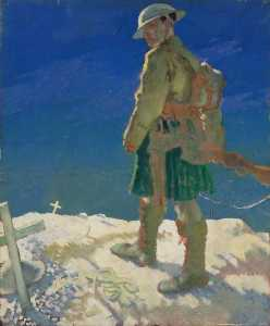 William Newenham Montague Orpen - Un Montanaro  passaggio  Un  Tomba