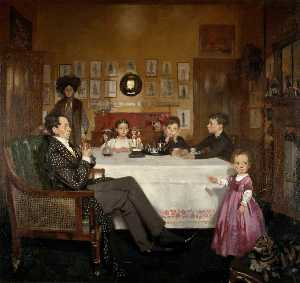 William Newenham Montague Orpen - Un Bloomsbury Famiglia