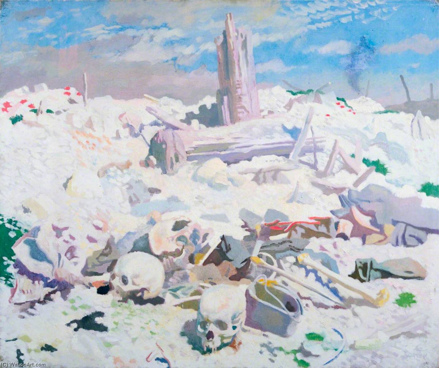 Thiepval, olio su tela di William Newenham Montague Orpen (1878-1931, Ireland)