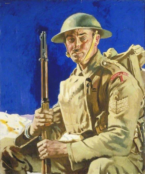 Un Granatiere  Guardia , olio su tela di William Newenham Montague Orpen (1878-1931, Ireland)
