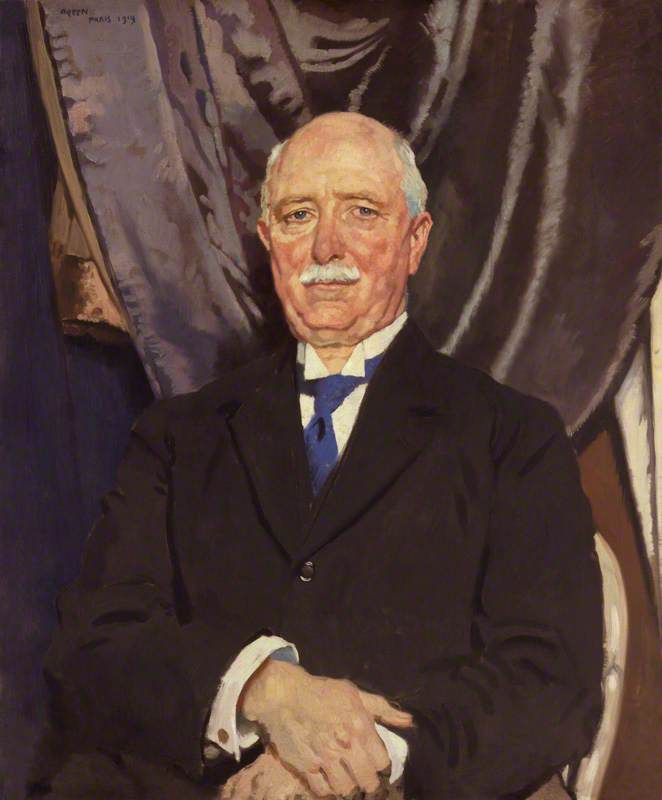 william ferguson massey, olio su tela di William Newenham Montague Orpen (1878-1931, Ireland)