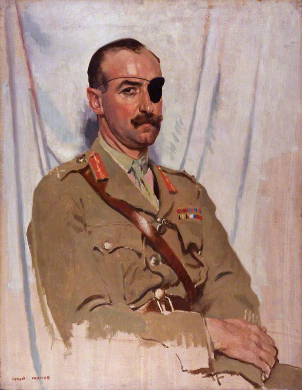 Signore Adrian Cartone de wiart, olio su tela di William Newenham Montague Orpen (1878-1931, Ireland)