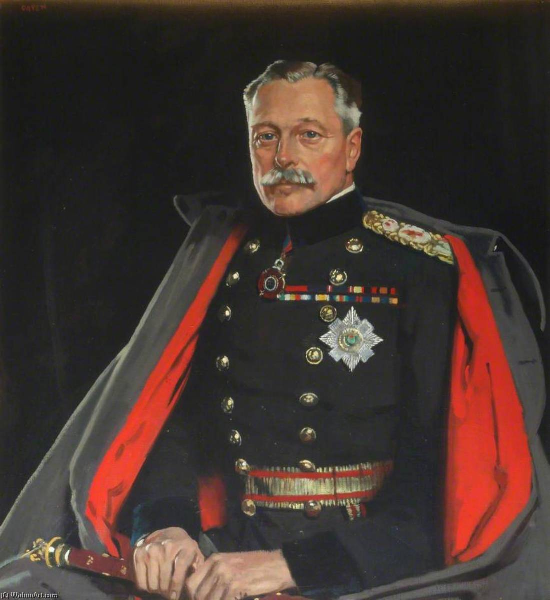 primo earl haig ambulanza  Maresciallo , olio su tela di William Newenham Montague Orpen (1878-1931, Ireland)