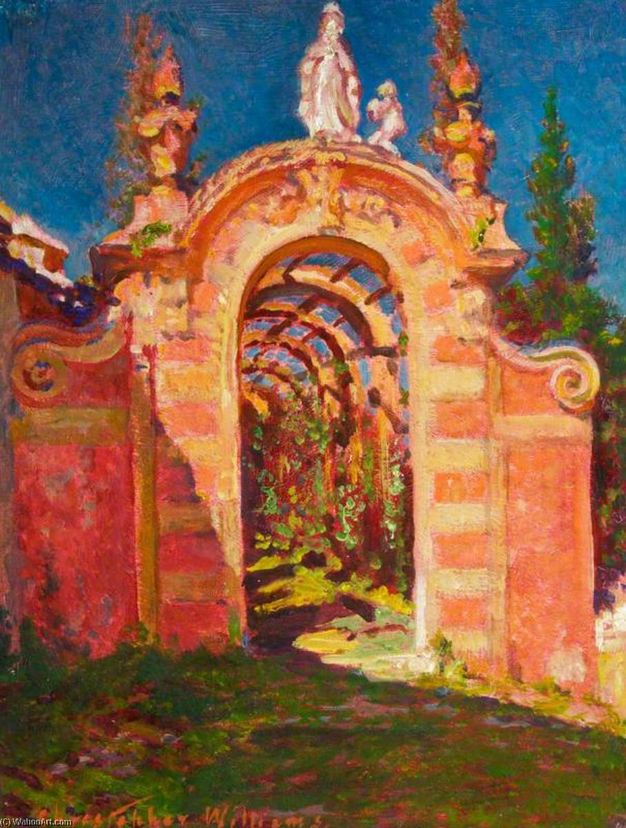 Illuminata dal sole Arco , Babbo Margherita di Christopher Williams (1873-1934, United States) | Stampe D'arte Su Tela | WahooArt.com