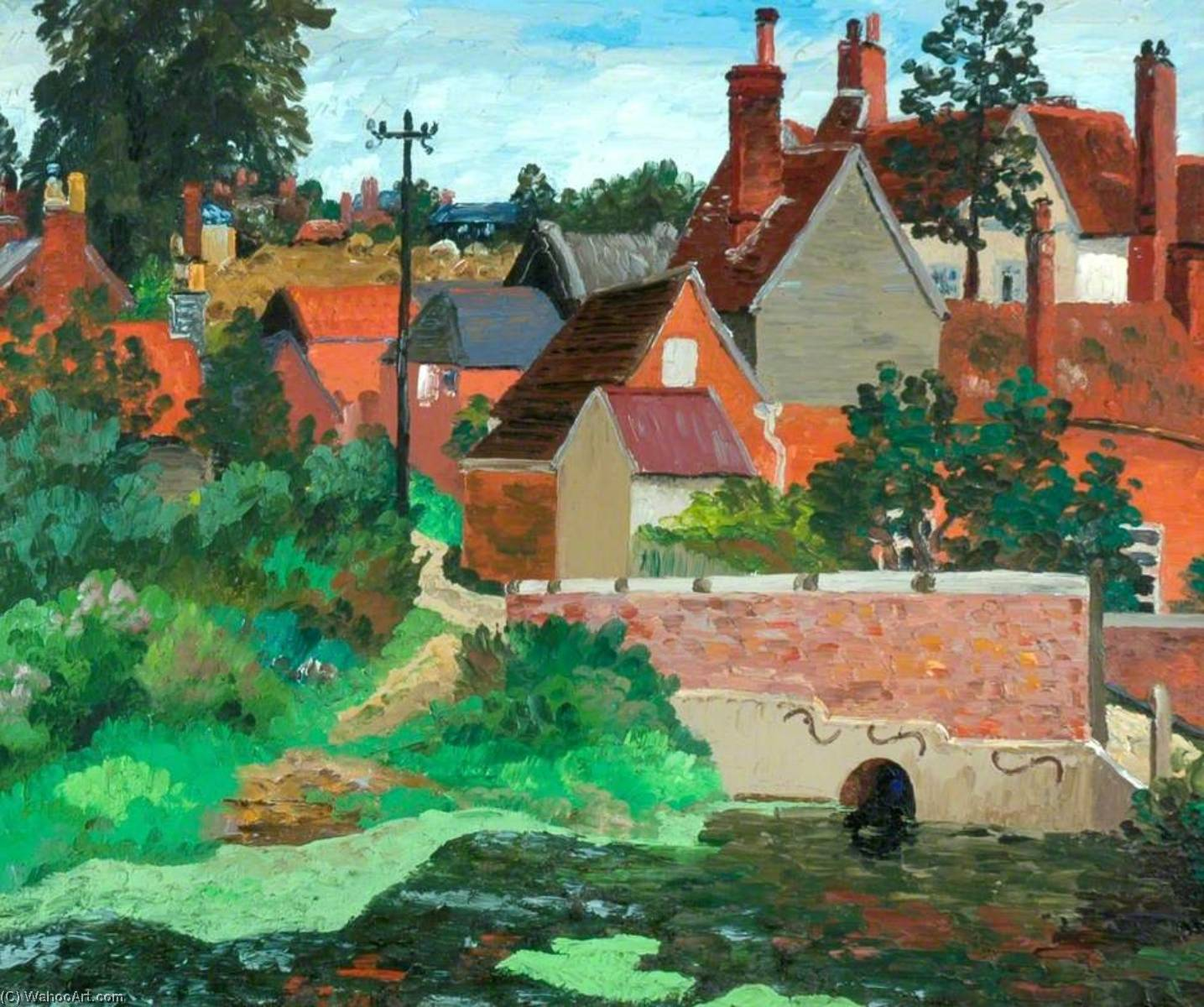 Polstead , Suffolk, olio su tela di Cedric Lockwood Morris (1889-1982, United Kingdom)