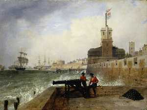Edward William Cooke - Semaforo a portsmouth