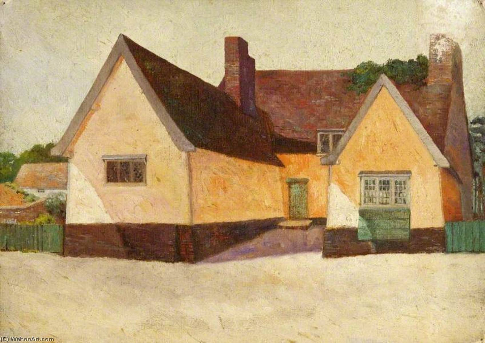Clement's Casolare , Yoxford, olio di Charles Paget Wade (1883-1956, United Kingdom)