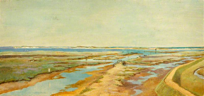 Cley prossimo mare , olio di Charles Paget Wade (1883-1956, United Kingdom)