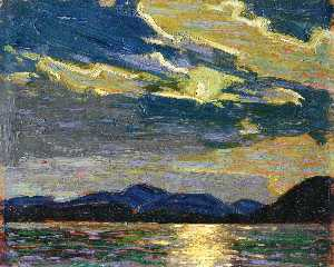 Tom Thomson - estate calda chiaro di luna