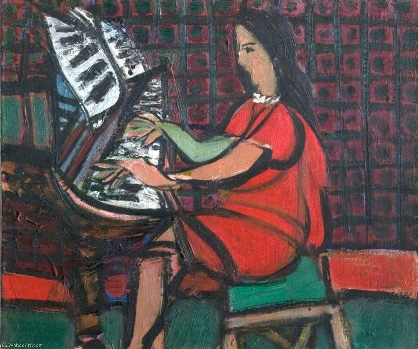 Ragazza ad un pianoforte, 1948 di Ceri Giraldus Richards (1903-1971, United States) | Copia Pittura | WahooArt.com
