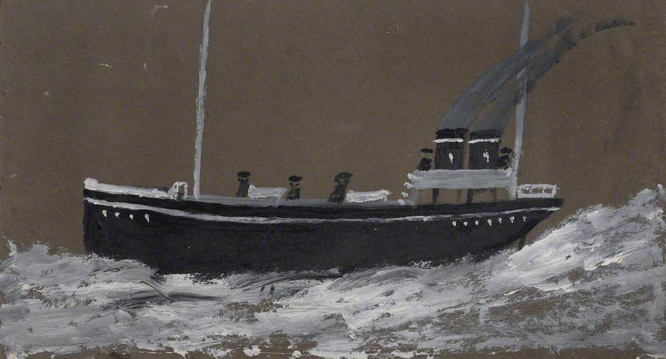 morte nave , 1942 di Alfred Wallis (1855-1942, United Kingdom) | WahooArt.com