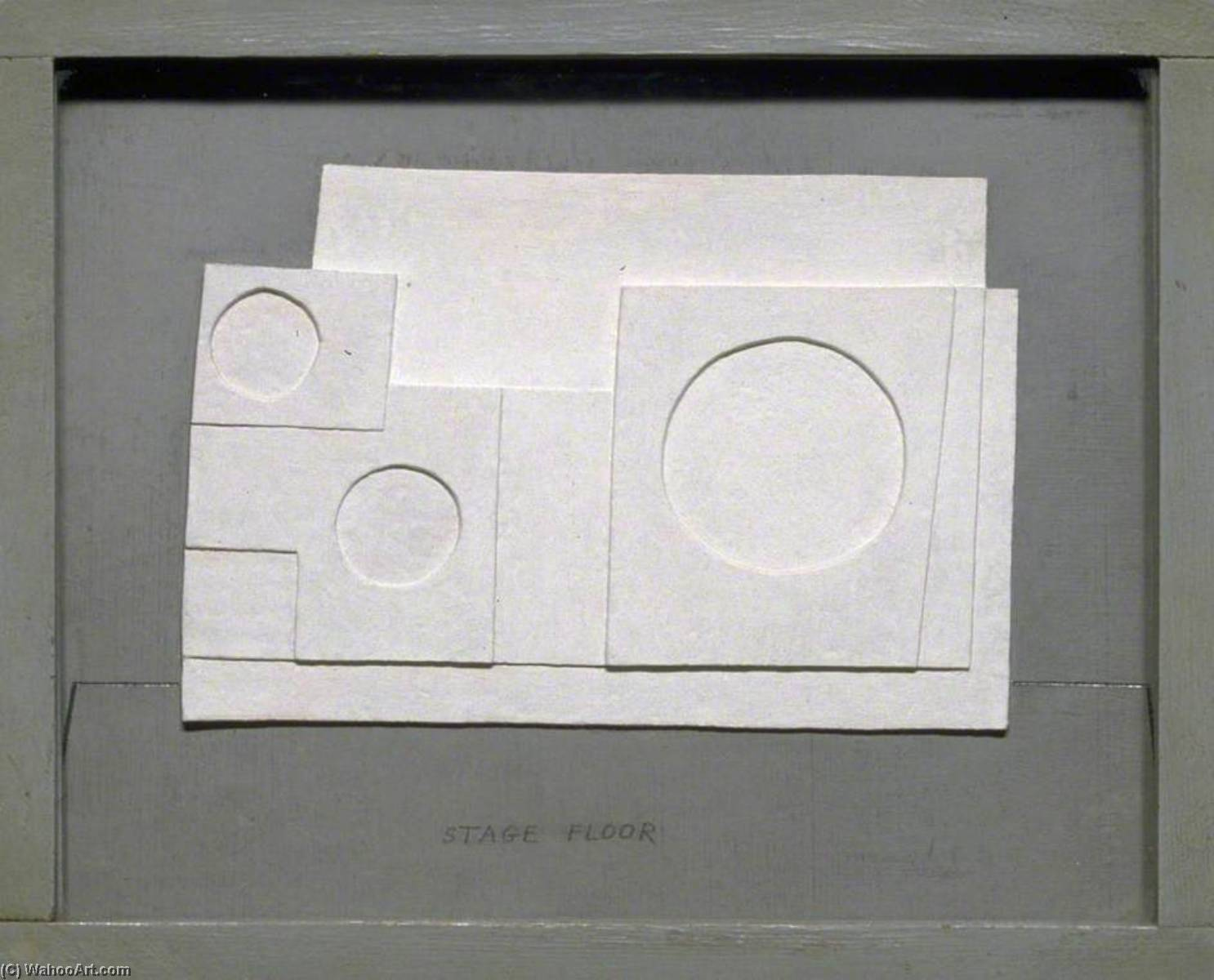 1934 progetto per massine per beethoven 7th Sinfonia Ballerino, olio di Ben Nicholson (1894-1982, United Kingdom)