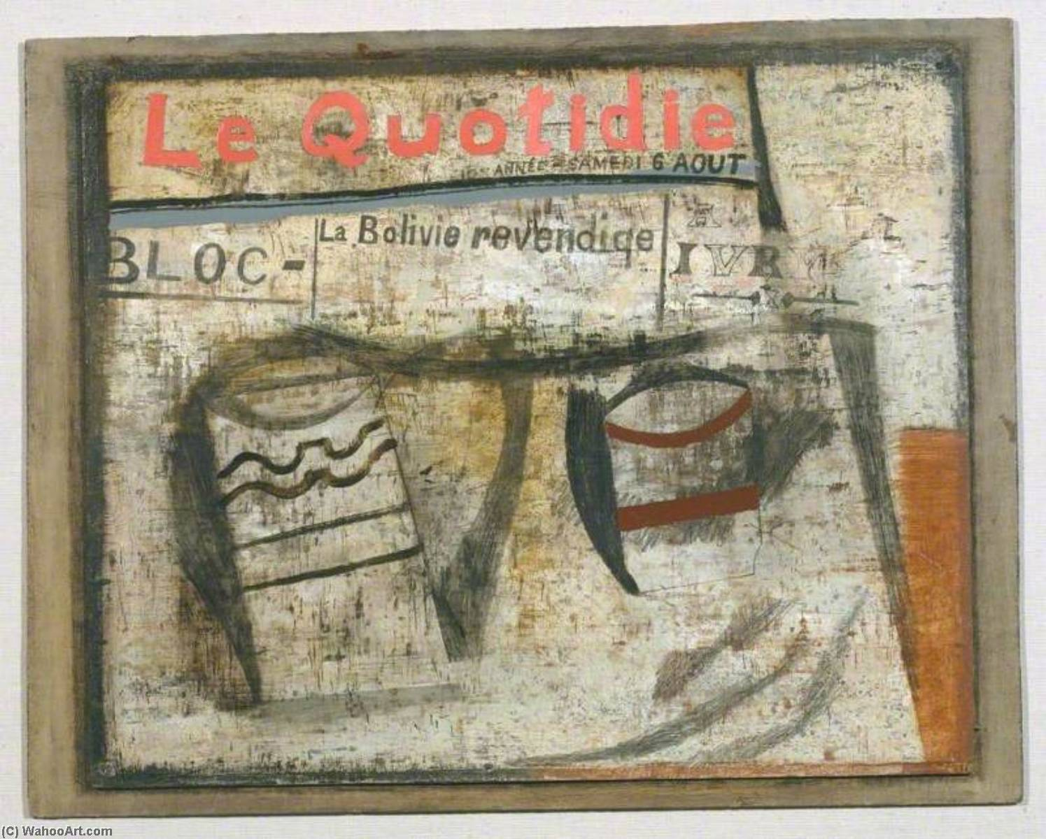 1932 ( le quotidien ), olio di Ben Nicholson (1894-1982, United Kingdom)