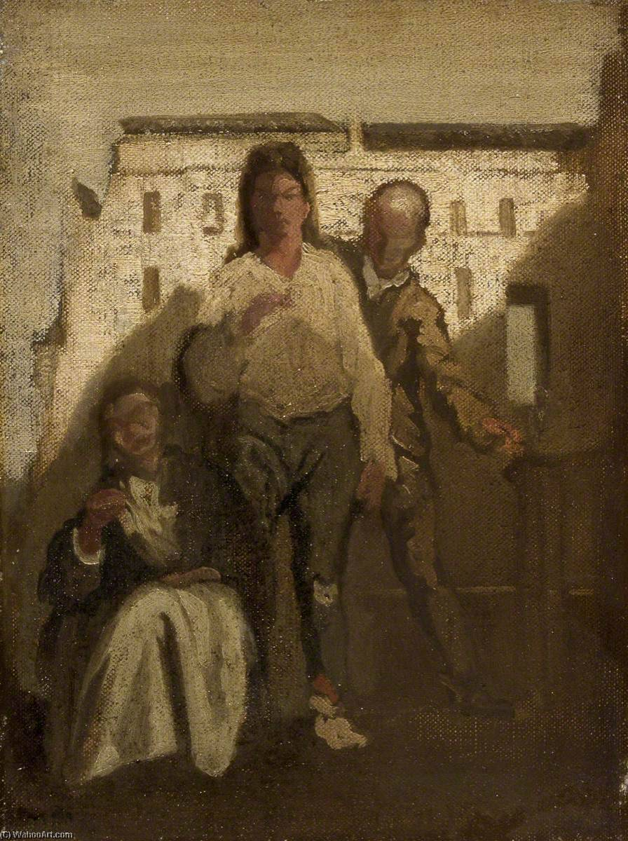 Ordinare Copia Pittura : la cattura di  cartiglio  di James Ferrier Pryde (1866-1941, Scotland) | WahooArt.com