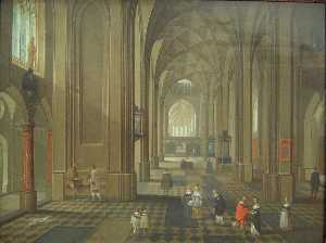Pieter Neefs The Elder - interni di un chiesa