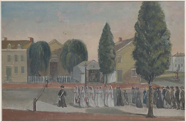 infante funerale  Processione , carta di William P Chappel (1800-1880)