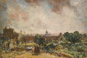John Constable - veduta di la città di londra da sir richard Steele's casolare , Hampstead