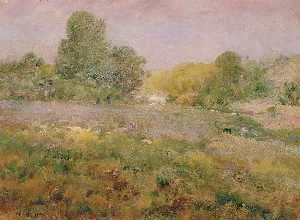 William Henry Holmes - Campo di Multicolore Erbe in ritardo Estate ( Nel Virginia Colline )