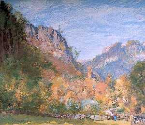 David Scott Murray - d'oro autunno , betws y coed