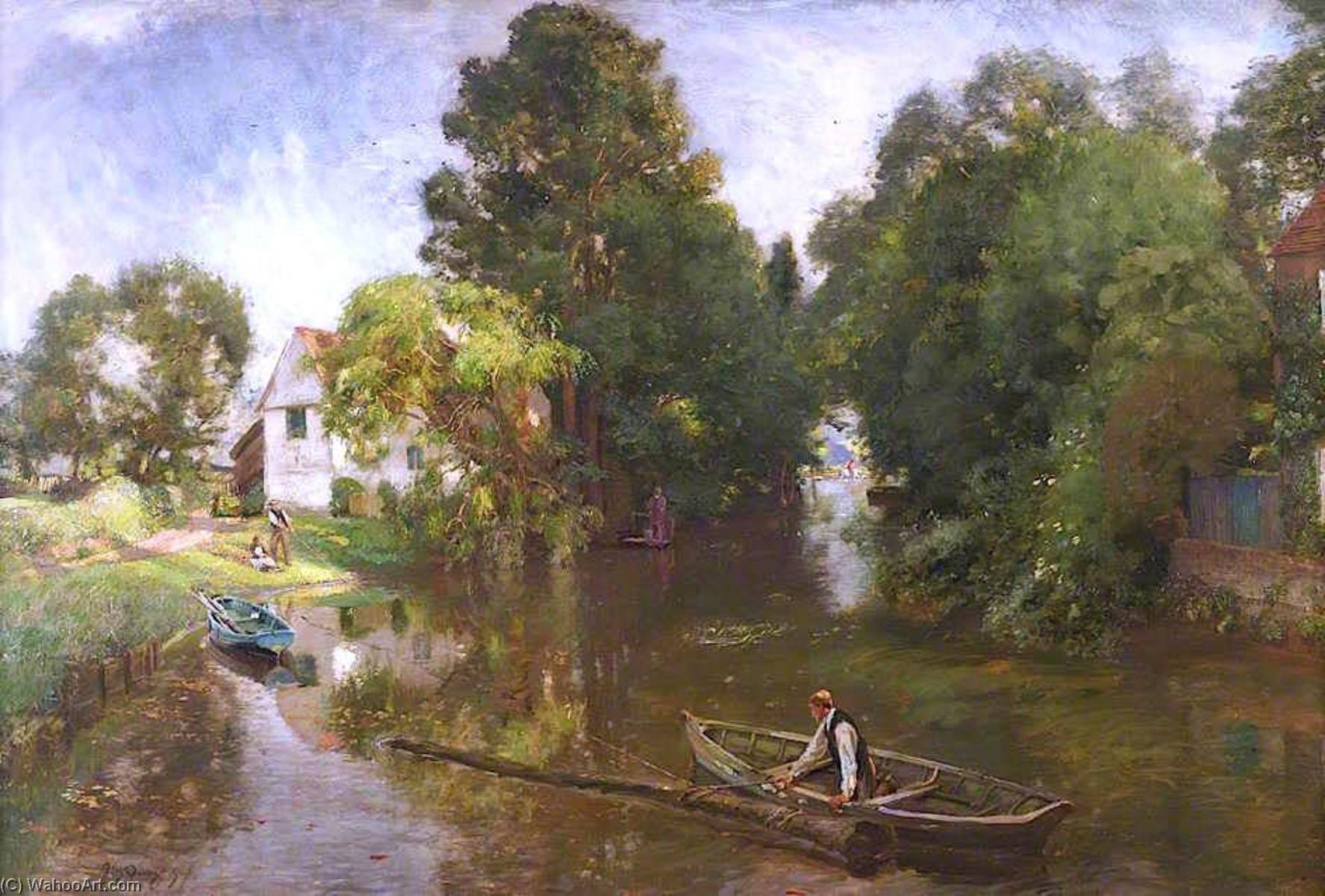 Flatford, 1907 di David Scott Murray | Copia Pittura | WahooArt.com