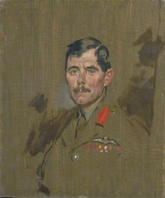 Importanti generale hugh m . Trenchard , CB , DSO, olio su tela di William Newenham Montague Orpen (1878-1931, Ireland)