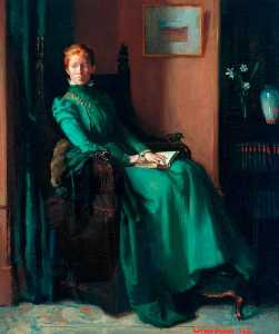 William Newenham Montague Orpen - la signora charles hughes