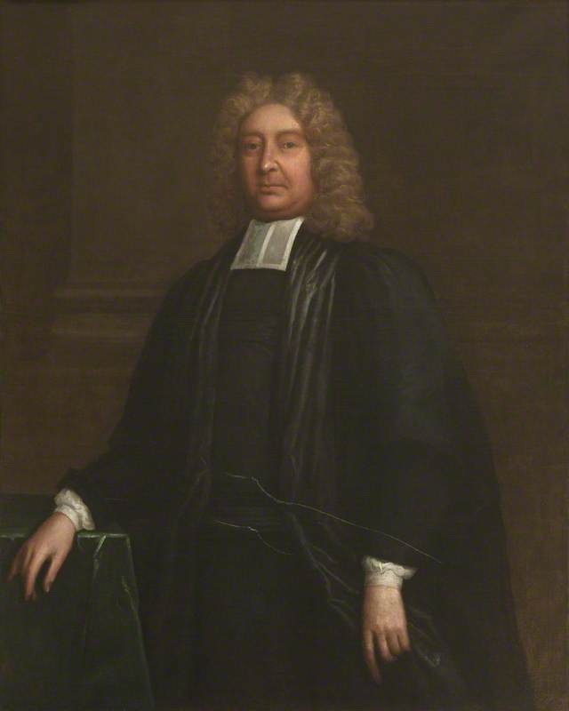 william lancaster ( 1650–1717 ) , Rettore ( 1704–1717 ), olio su tela di Thomas Murray
